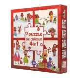 Puzzle Colectia de Craciun 4 in 1 - Misterul Saniei Noriel