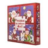 Puzzle Colectia de Craciun 4 in 1 - Misterul Cadourilor Noriel