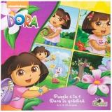Puzzle 4 in 1 Dora in gradina The Expolorer