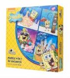 Puzzle 4 In 1 In Vacanta Spongebob