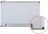 Tabla alba magnetica cu rama din aluminiu, 120 x 180 cm, Optima