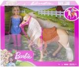 Papusa si cal cu accesorii Barbie