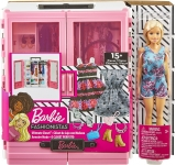 Papusa cu dulap si accesorii Barbie
