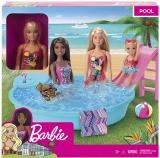 Papusa cu piscina Barbie