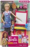 Papusa Cariere - Set profesor de desen Barbie