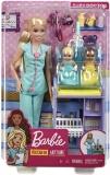 Papusa Cariere - Set doctor pediatru Barbie