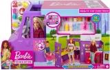 Papusa cu accesorii Rulota cu mancare Barbie