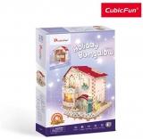 Puzzle 3D Led Casa De Vacanta 116 Piese Cubicfun