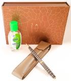 Pachet Pix Sonnet Dark Brown Laque PGT Parker in caseta cadou cu etui + gel dezinfectant maini 50 ml