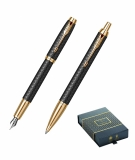 Set Stilou si Pix IM Royal Premium Black/Gold GT Parker
