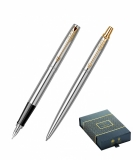 Set Stilou si Pix Jotter Royal Stainless Steel GT Parker