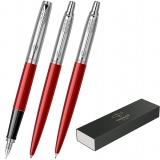Set 3 instrumente de lux, stilou, pix, creion mecanic Jotter Royal Standard Kensington Red CT Parker