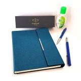 Pachet Stilou si Pix Vector Royal Standard Blue CT Parker in caseta cadou cu agenda + gel dezinfectant de maini 50 ml