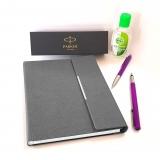 Pachet Stilou si Pix Vector Royal Standard Purple CT Parker in caseta cadou cu agenda + gel dezinfectant de maini 50 ml