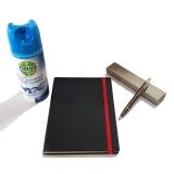 Pachet Pix IM Standard Gun Metal CT Parker cu agenda + spray dezinfectant suprafete Dettol