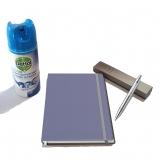 Pachet Pix IM Shiny Chrome CT Parker cu agenda + spray dezinfectant suprafete Dettol