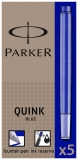 Rezerva stilou 5 bucati/set Parker Quink Ink blue