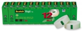 Pachet 12 bucati banda adeziva 19 mm x 33 m Scotch Magic 3M