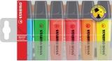 Textmarker Boss Original 6 culori/set Stabilo