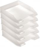 Tavita corespondenta A4-C4 clasic alb translucid 5 buc/set Herlitz
