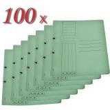 Pachet dosar carton color, verde, cu capse, coperta 1/1, tip L, 100 buc/set