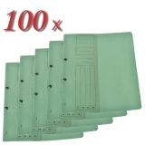 Pachet 100 dosare din carton cu capse 1/2 verde tip L