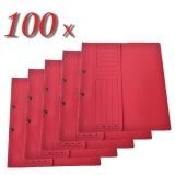 Pachet dosar carton color, rosu, cu capse, coperta 1/2, tip L, 100 buc/set