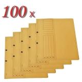 Pachet 100 dosare din carton cu capse 1/2 galben tip L