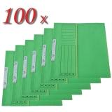 Pachet 100 dosare incopciate din carton 1/2 verde tip L
