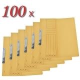 Pachet 100 dosare incopciate din carton 1/2 galben tip L