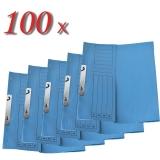 Pachet 100 dosare incopciate din carton 1/2 albastru tip L
