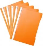 Dosar A4 din plastic cu sina si perforatii, culoare portocaliu, 50 buc/set Noki
