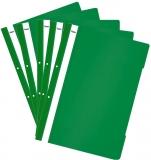 Dosar A4 din plastic cu sina si perforatii, culoare verde, 50 buc/set Noki