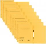 Dosar carton color, cu sina, galben 50 buc/set Leitz