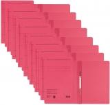 Dosar carton color, cu sina, rosu 50 buc/set Leitz
