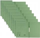 Dosar carton color, cu sina, verde 50 buc/set Leitz
