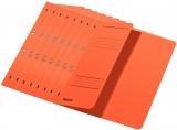 Dosar carton color, cu capse, coperta 1/2 orange 50 buc/set Leitz