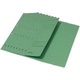 Dosar carton color, cu capse, coperta 1/2 verde 50 buc/set Leitz