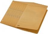 Dosar carton color, cu capse, coperta 1/1 kraft 50 buc/set Leitz