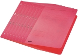 Dosar carton color, cu capse, coperta 1/1 rosu 50 buc/set Leitz
