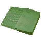 Dosar carton color, cu capse, coperta 1/1 verde 50 buc/set Leitz