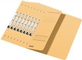 Dosar carton color, pentru incopciat, coperta 1/2 kraft 50 buc/set Leitz