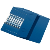 Dosar carton color, pentru incopciat, coperta 1/2 albastru 50 buc/set Leitz