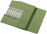 Dosar carton color, pentru incopciat, coperta 1/2 verde 50 buc/set Leitz