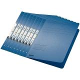 Dosar carton color, pentru incopciat, coperta 1/1 albastru 50 buc/set Leitz