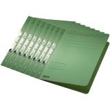 Dosar carton color, pentru incopciat, coperta 1/1 verde 50 buc/set Leitz