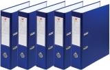 Biblioraft A4 75 mm plastifiat culoare albastru, 25 buc/set EXTE