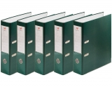 Biblioraft A4, 75 mm, plastifiat verde, 25 buc/set EXTE