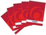 Bloc notes cu spira X.Book, A7, 50 file, matematica, 10 buc/set Herlitz