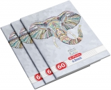 Set 5 caiete A4, 60 file, 70g/mp, dictando, Ethnic Animals Herlitz